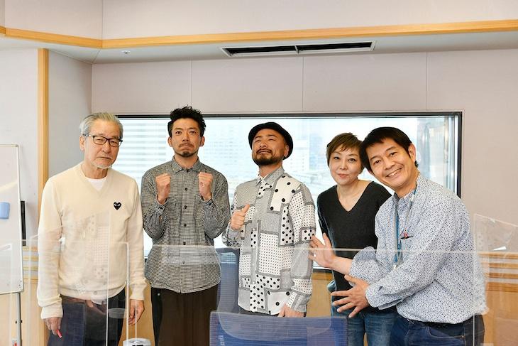 左から大竹まこと、どぶろっく、室井佑月、太田英明(文化放送アナウンサー)。(c)文化放送