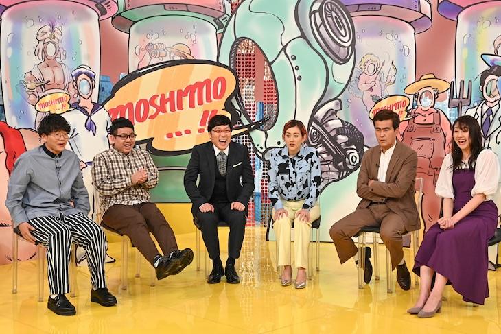 「もしも動画グランプリ」にスタジオ出演する(左から)ミキ、南海キャンディーズ山里、SHELLY、石原良純、山形純菜アナ。(c)TBS
