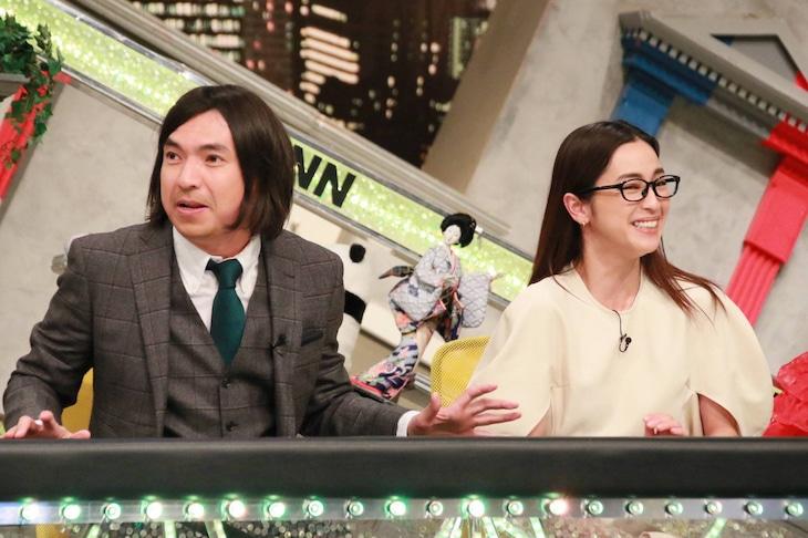 「全力!脱力タイムズ」ゲストの(左から)ふかわりょう、中村アン。(c)フジテレビ
