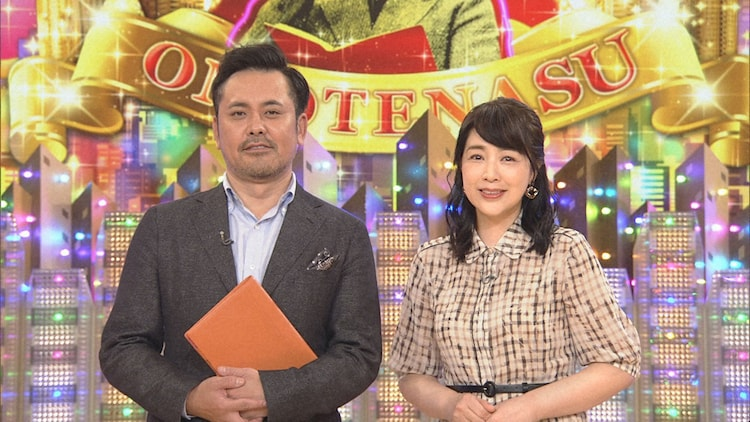 有田P(左)と菊池桃子(右)。(c)NHK