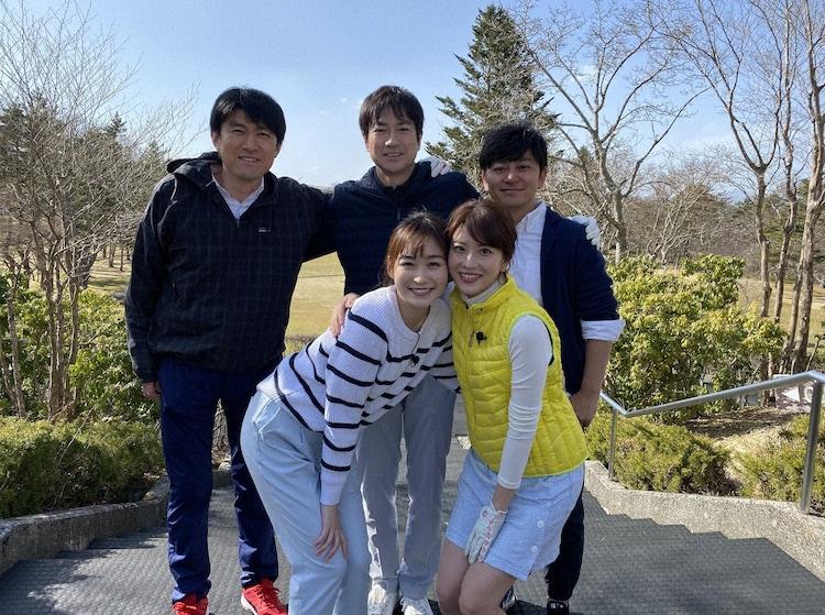 「チームアナウンサー」の坂者たち。(c)日本テレビ