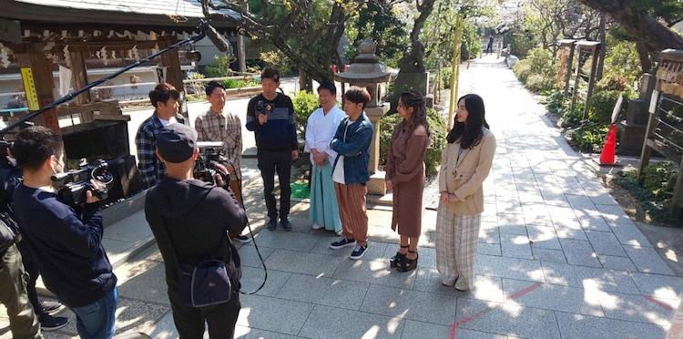 「ラッキーパワースポット巡り」のワンシーン。(c)日本テレビ