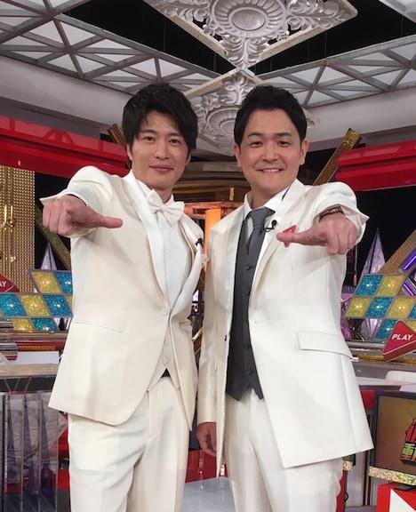 左から田中圭、千鳥ノブ。(c)日本テレビ