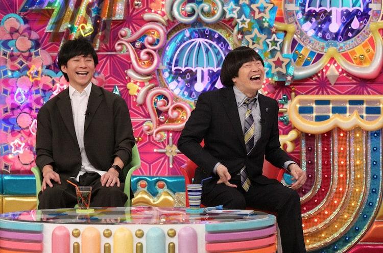 (左から)アンジャッシュ渡部、蛍原徹。(c)テレビ朝日