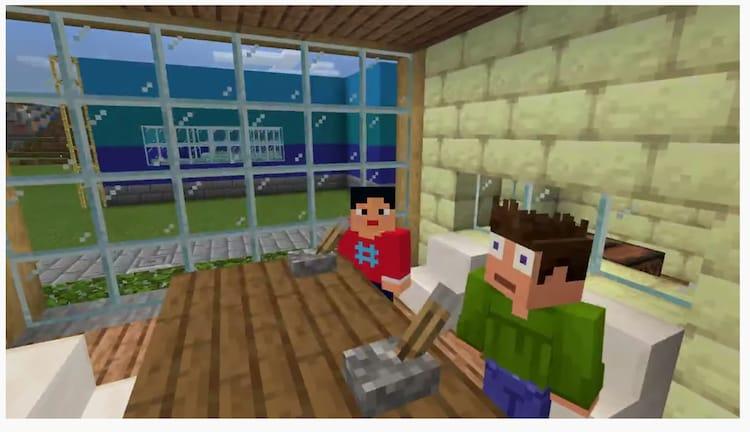マイクラの世界から「ぶちラジ!」をお届け。(画像はYouTube「ウエストランドのぶちラジ!」より。)