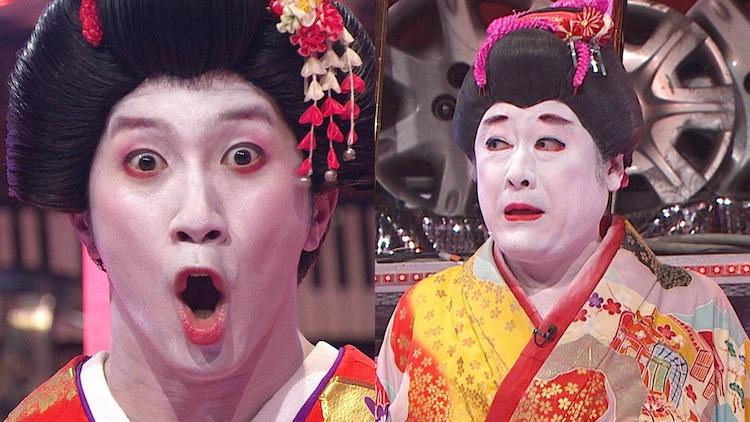 コラボネタを披露する濱田崇裕(左)とコウメ太夫。(c)フジテレビ