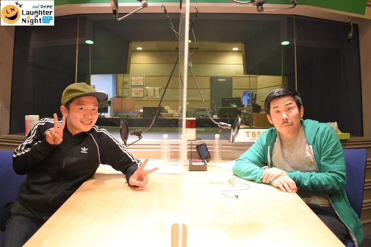 「マイナビ Laughter Night」で対談する(左から)ゾフィー上田、岡野陽一。(c)TBSラジオ