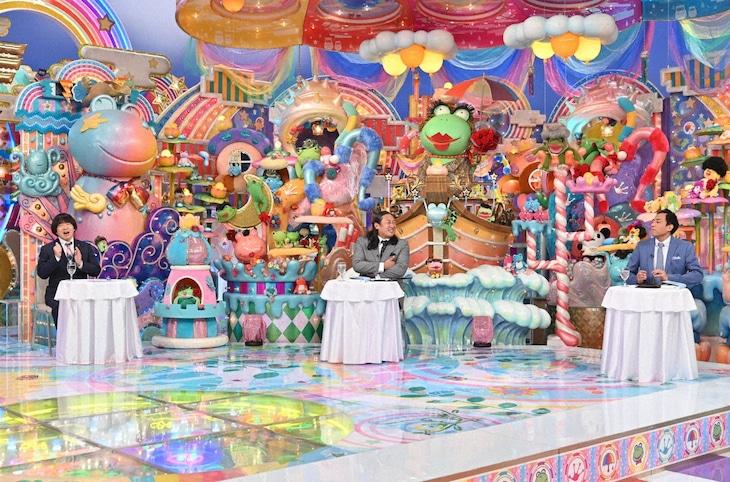 「アメトーーク!」に出演する(左から)蛍原徹、ロバート秋山、ナイツ塙。(c)テレビ朝日