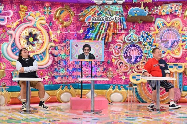 「アメトーーク!」に「バラエティ観るの大好き芸人」として出演する(左から)ロッチ中岡、平成ノブシコブシ徳井、出川哲朗。(c)テレビ朝日