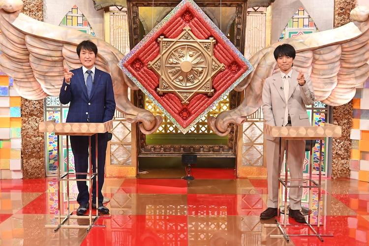 「ピンチをチャンスに変えた!THEグレートジャッジ~今を乗り越えるヒントとは?~」MCの千原ジュニア(左)、井ノ原快彦(右)。(c)ABCテレビ