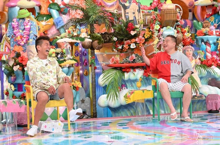 「アメトーーク!」に「ハワイ行きたい芸人」として出演する(左から)勝俣州和、出川哲朗。(c)テレビ朝日