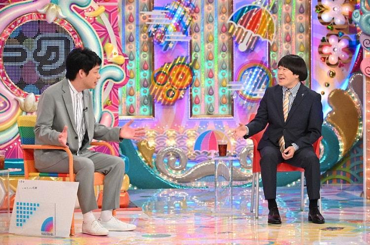 (左から)麒麟・川島、蛍原徹。(c)テレビ朝日
