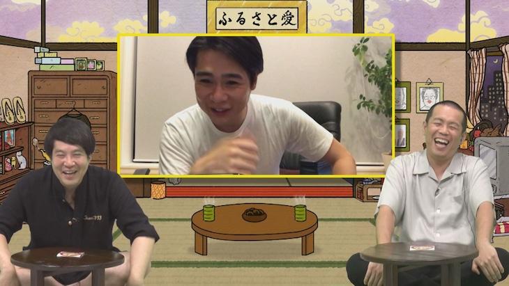 「ジンギス談!」に出演するタカアンドトシと平成ノブシコブシ吉村(中央)。(c)HBC