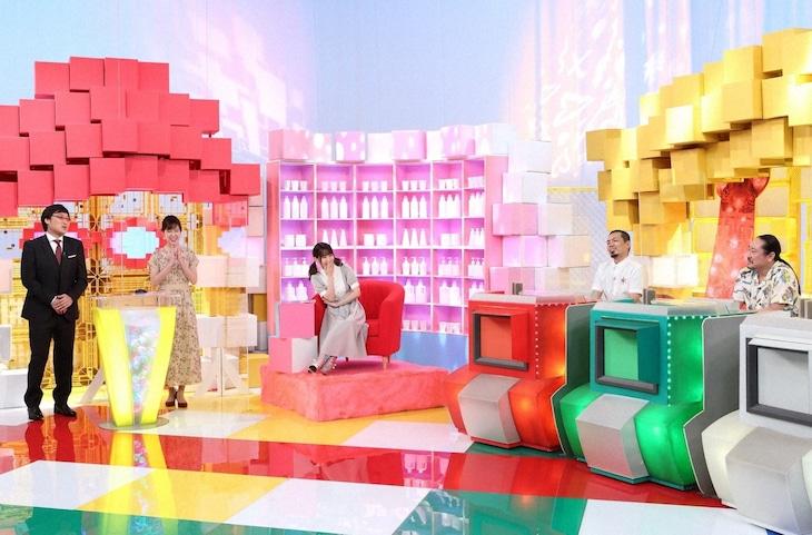 「まさかのバーサーカー」に出演する(左から)南海キャンディーズ山里、澤田有也佳アナ、佐藤ノア、天竺鼠・川原、笑い飯・西田。(c)ABCテレビ