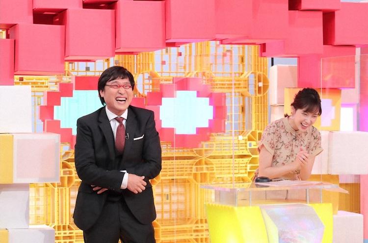 (左から)南海キャンディーズ山里、澤田有也佳アナ。(c)ABCテレビ