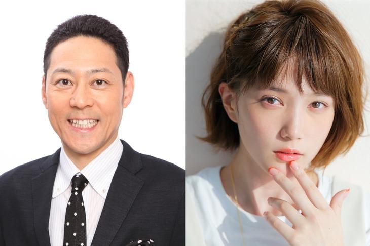 「クイズピンチヒッター」MCの東野幸治(左)、本田翼(右)。
