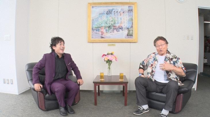 左からぺこぱ松陰寺、天龍源一郎。(c)日本テレビ