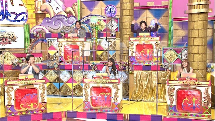 「潜在能力テスト」に出演するジャングルポケット斉藤(前列左)、ぺこぱ(後列)ら。(c)フジテレビ