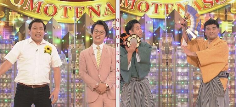 インディアンス(左)、すゑひろがりず(右)。(c)NHK