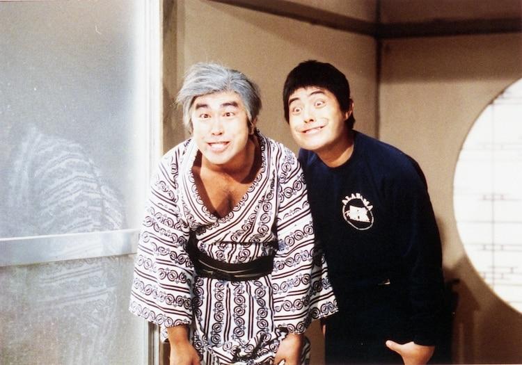 「ドリフ大爆笑」に出演する(左から)志村けん、加藤茶。(c)イザワオフィス