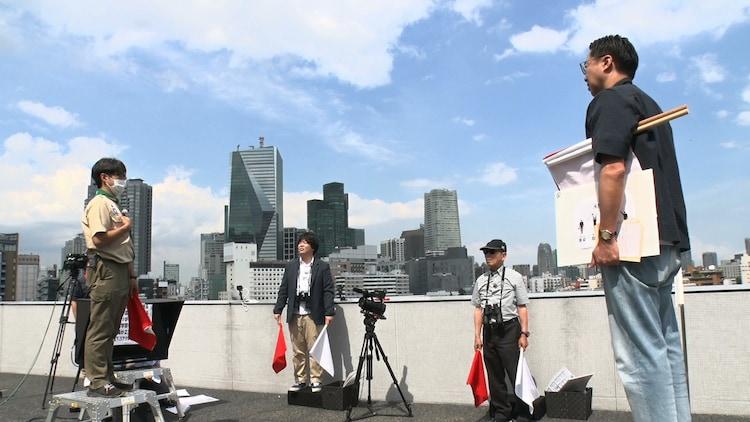 「タモリ倶楽部」に出演する、おぎやはぎ矢作(右)、宮下草薙・草薙(左から2人目)ら。(c)テレビ朝日
