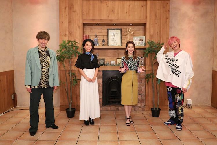 (左から)EXITりんたろー。、鈴木紗理奈、ファーストサマーウイカ、EXIT兼近。(c)関西テレビ