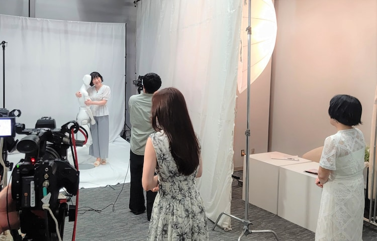 撮影の様子。(c)日本テレビ