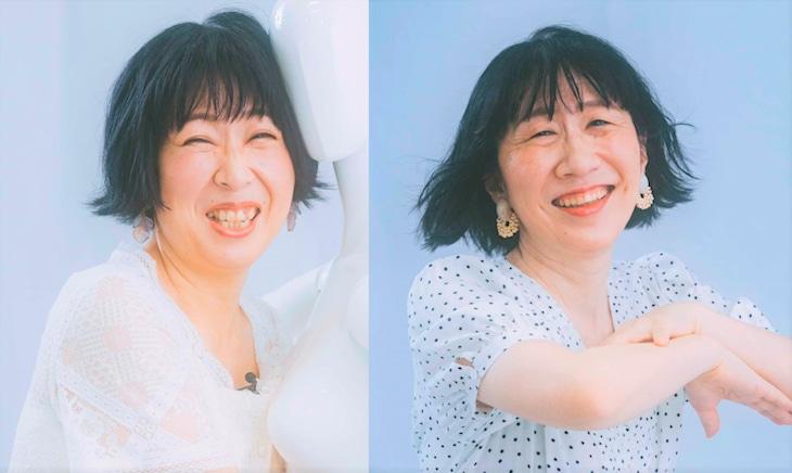 モデルになりきる阿佐ヶ谷姉妹。(c)日本テレビ