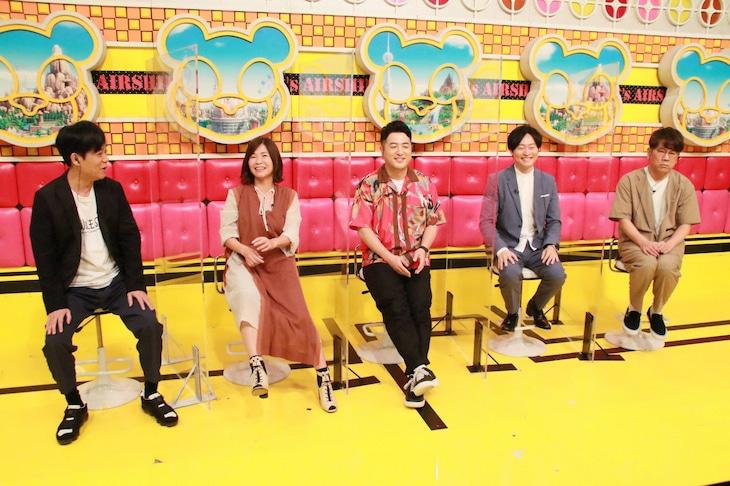 「ネプリーグSP」に「人気芸人チーム」として出演する(左から)ネプチューン名倉、大久保佳代子、和牛、FUJIWARA藤本。(c)フジテレビ