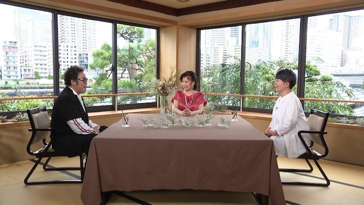 「ボクらの時代」に出演する(左から)コロッケ、八代亜紀、島津亜矢。(c)フジテレビ