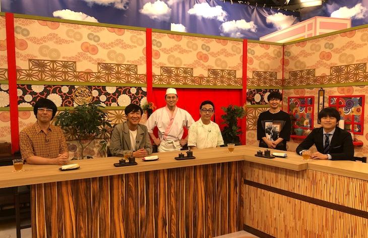 (手前左から)ゲストの東京03、バカリズム。