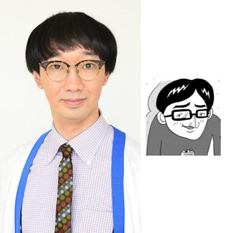 ラバーガール大水演じる編集局校閲部の社員・鴨志田哲也。