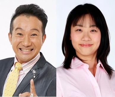 左から矢野勝也、いとうあさこ。