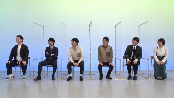 「霜降りバラエティ」に出演する(左から)アイロンヘッド、男性ブランコ、蛙亭。(c)テレビ朝日