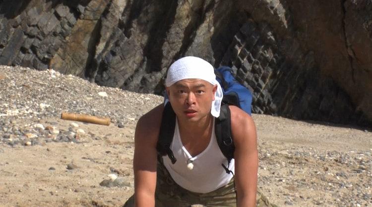 「アイ・アム・冒険少年」の「脱出島」で連覇を狙う、あばれる君。(c)TBS