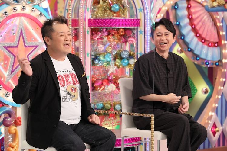(左から)ブラックマヨネーズ小杉、有吉弘行。(c)テレビ朝日