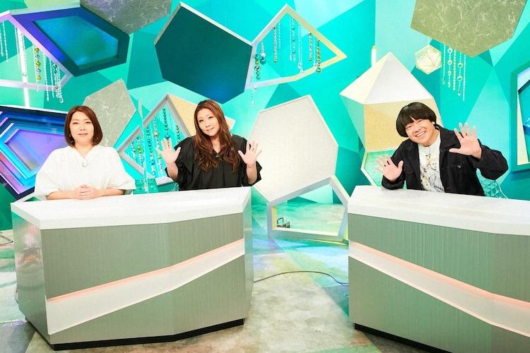 (左から)海原やすよ ともこ、蛍原徹。(c)ABCテレビ
