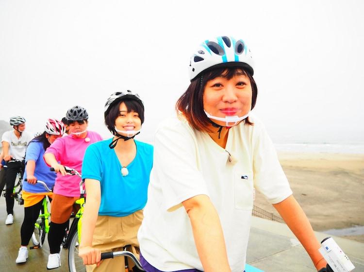 「梅沢・かまいたち&しずちゃん・ぼる塾のタンデム自転車で行く福島バラエティロード」より。
