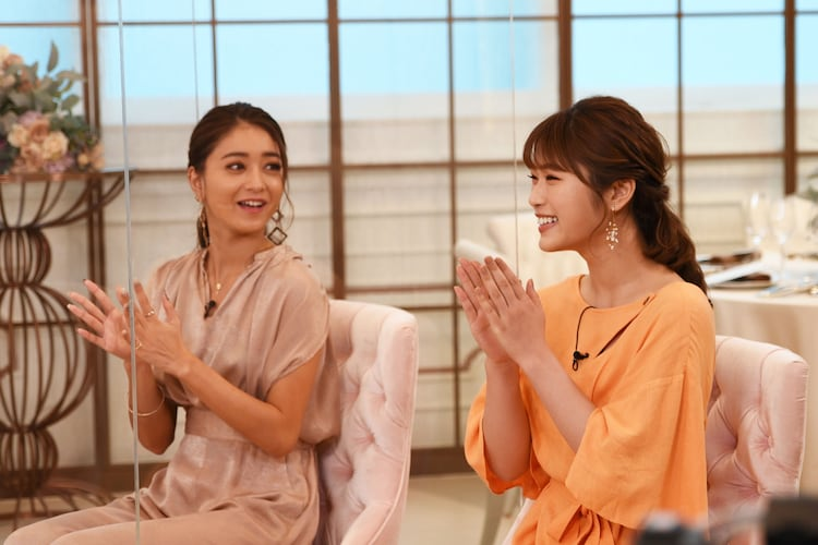 (左から)池田美優、渋谷凪咲。(c)フジテレビ
