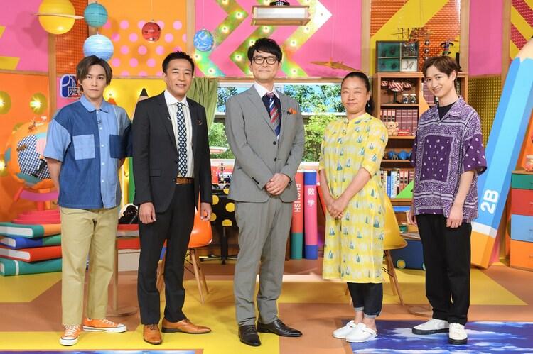左から千賀健永、ナイツ、いとうあさこ、宮田俊哉。(c)NHK