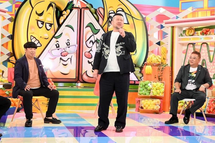 (左から)バナナマン日村、ケンドーコバヤシ、サンドウィッチマン伊達。(c)TBS