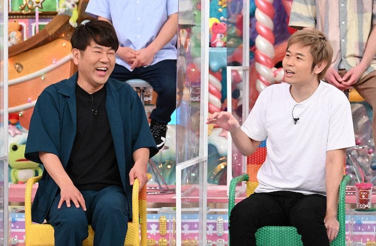 (左から)FUJIWARA藤本、品川庄司・品川。(c)テレビ朝日