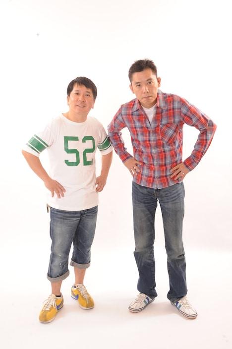 爆笑問題。左から田中、太田。
