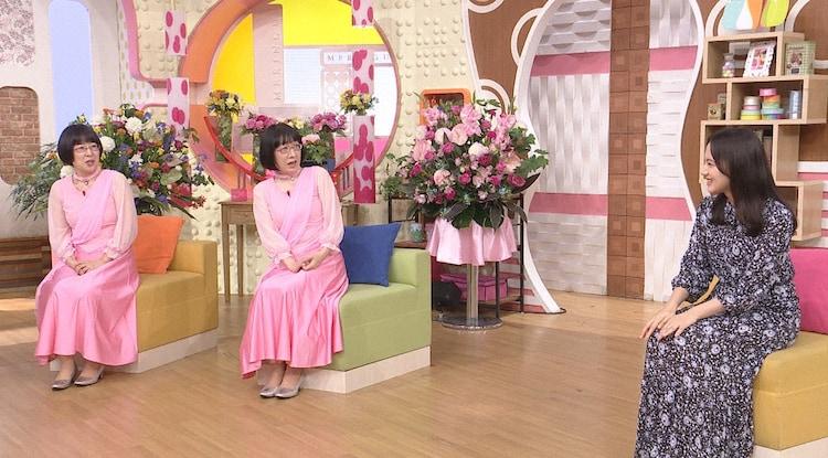 左から阿佐ヶ谷姉妹、清原果耶。(c)日本テレビ