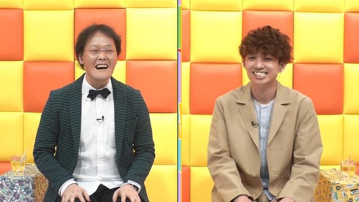 「ひかくてきファンです!」にゲスト出演するアインシュタイン。(c)テレビ朝日