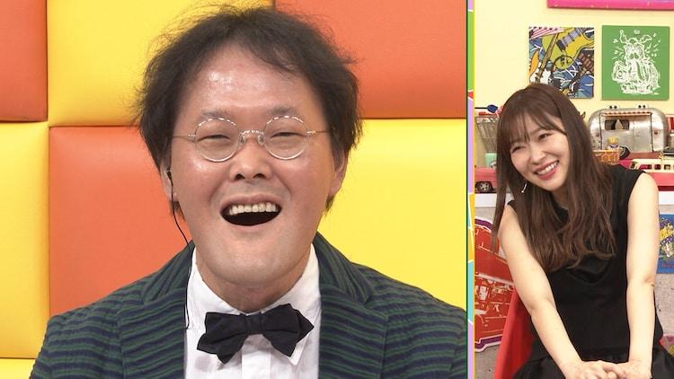 (左から)アインシュタイン稲田、指原莉乃。(c)テレビ朝日