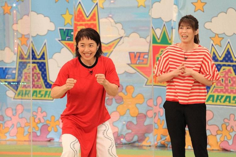 (左から)浜口京子、吉田沙保里。(c)フジテレビ