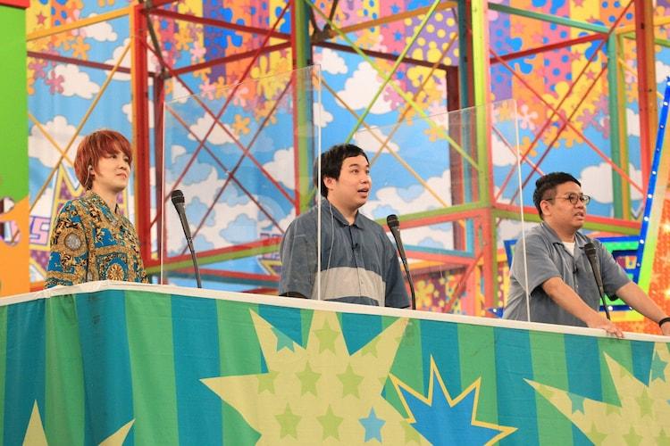(左から)尼神インター渚、霜降り明星せいや、ミキ昴生。(c)フジテレビ