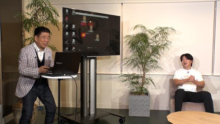 「きよしが深掘り!NEW LIFEクリエイターズ」に出演する(左から)西川きよし、マヂカルラブリー野田クリスタル。(c)ABCテレビ