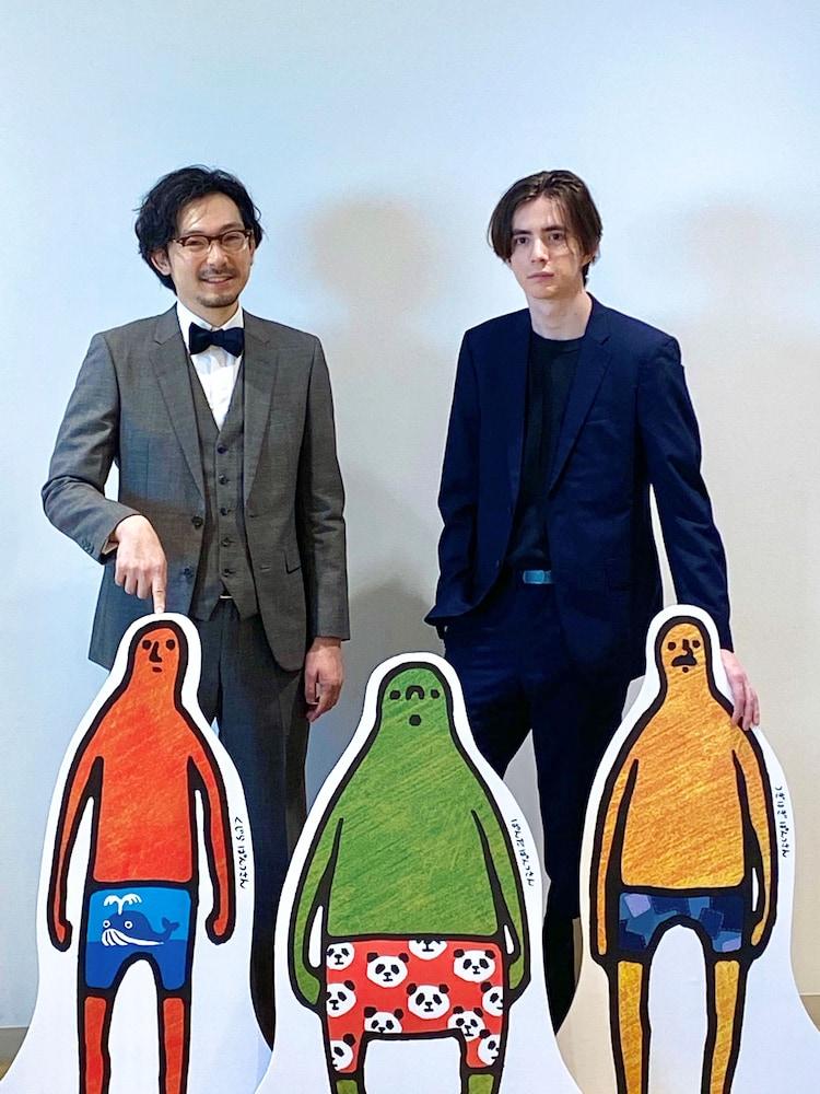 田中光(左)とまかろにステーション・ギャビン(右)。